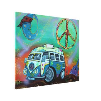 Hippie Trip Wrapped Canvas