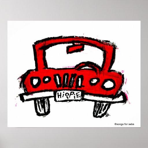 Hippie Truck Print