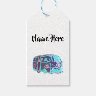 Hippie Van Custom Gift Tags