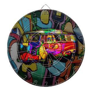 Hippie van dartboard