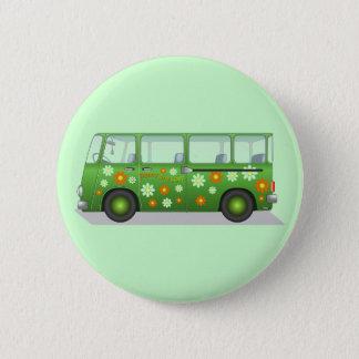 Hippie van image 2 inch round button