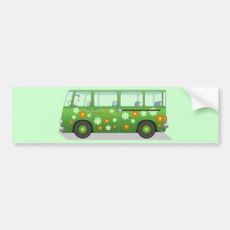 Hippie van image bumper sticker