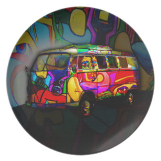 Hippie van plates