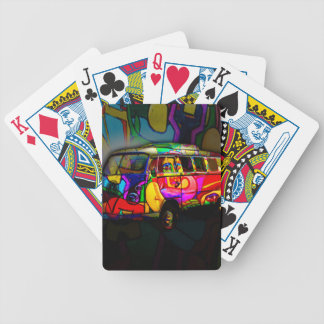Hippie van poker deck