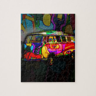 Hippie van puzzle