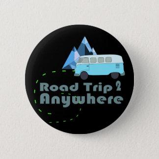 hippie van road trip to anywhere travel pin