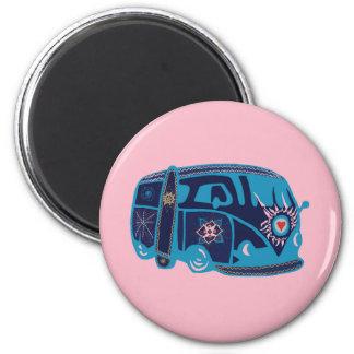Hippie Van Standard, 5.7 Cm Round Magnet