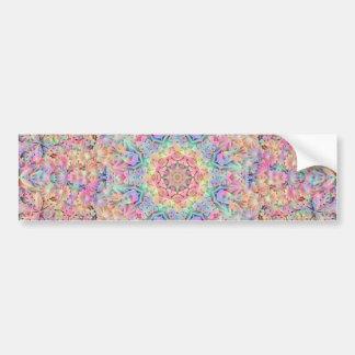Hippie Vintage Kaleidoscope  Bumper Sticker