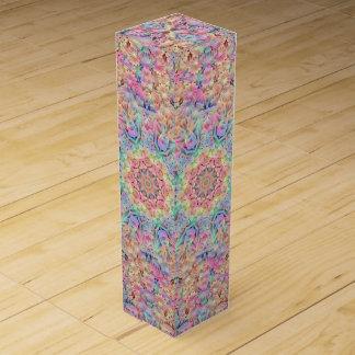 Hippie Vintage Kaleidoscope Wine Gift Box