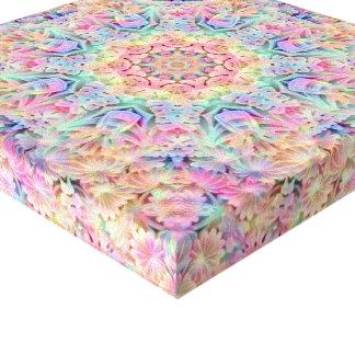 Hippie   Vintage Kaleidoscope Wrapped Canvas
