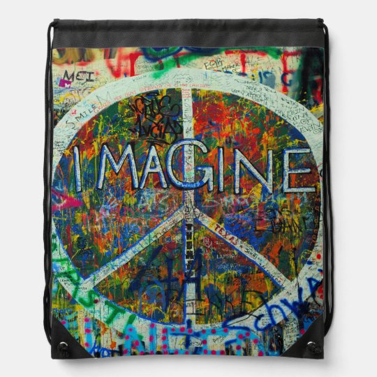 Hippie Wall Art Cinch Bag