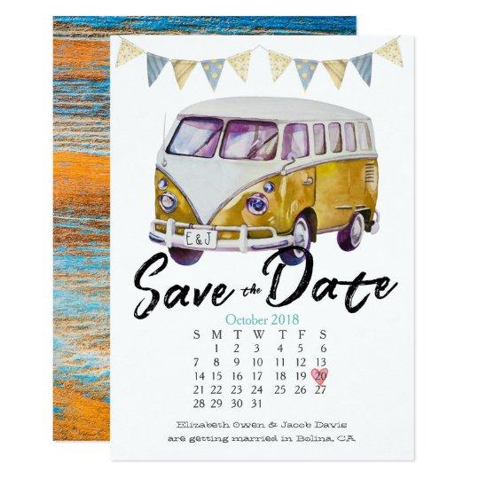 Hippie Wedding Save the Date Card