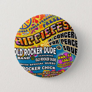 Hippiefest Concert Poster 2 Inch Round Button