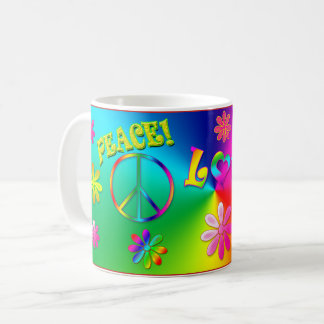 Hippie's 60's Mug - Flowers/Signs/Peace/Love