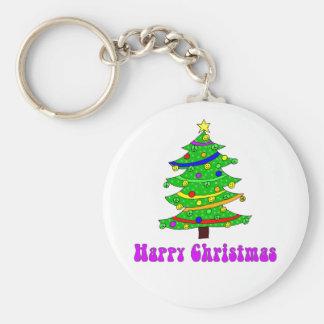 Hippie's Happy Christmas Tree Key Chains