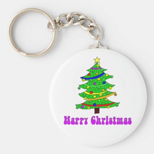 Hippie's Happy Christmas Tree Key Chains