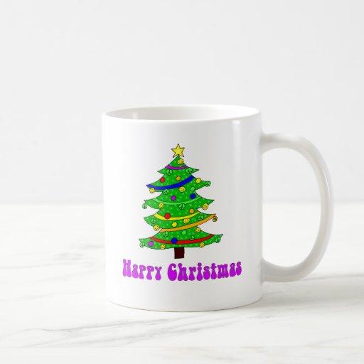 Hippie's Happy Christmas Tree Mugs