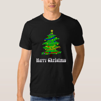 Hippie's Happy Christmas Tree T Shirts
