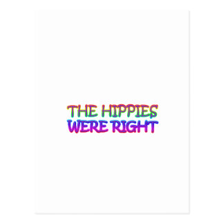 hippies postcard