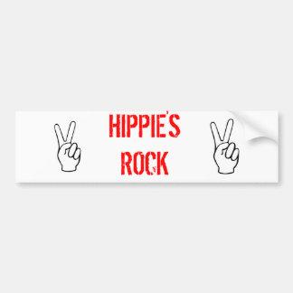 HIPPIES ROCK!!!!!!! BUMPER STICKER