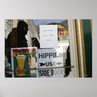 Hippies Use Side Door, Virginia City, Nevada Poster