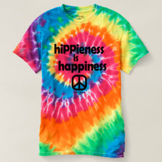 Hippiness Is Happiness Tie Dye Tee