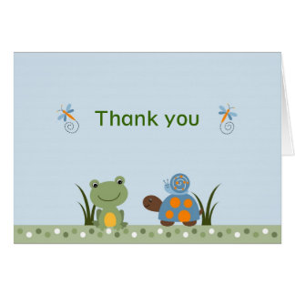 Hippity Frog Turtle Thank You Note Cards
