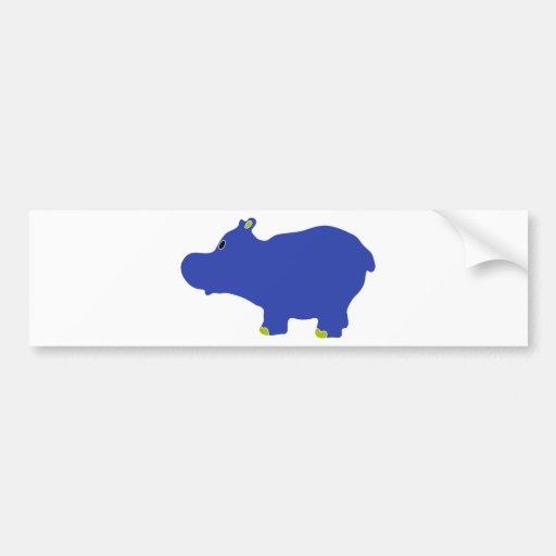 hippo-2 bumper sticker