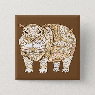 Hippo 2 Inch Square Button