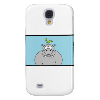 Hippo and Bird Galaxy S4 Covers