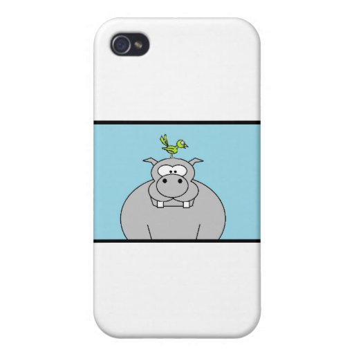 Hippo and Bird Case For iPhone 4