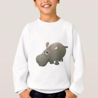 Hippo Animal Cartoon Character Sweatshirt