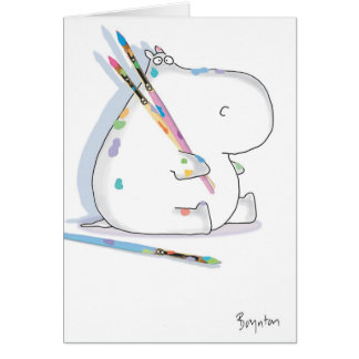 HIPPO ARTIST Birthday Greeting Cards