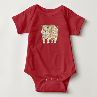 Hippo Baby Bodysuit