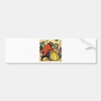 Hippo & Bear at the Christmas Ball in Animal Land Bumper Sticker