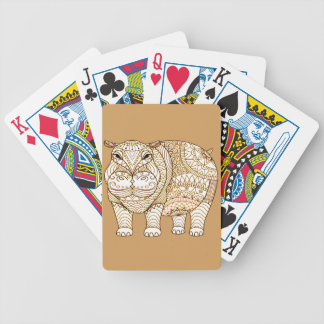 Hippo Bicycle Playing Cards