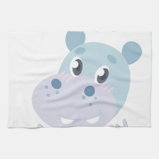 Hippo Birthday Kitchen Towel