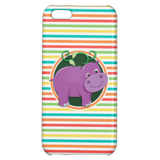 Hippo; Bright Rainbow Stripes Case For iPhone 5C