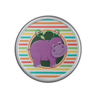 Hippo; Bright Rainbow Stripes Speaker