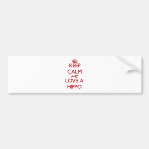 Hippo Bumper Stickers