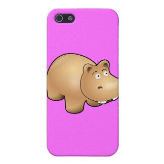 Hippo cartoon iPhone 5/5S cases