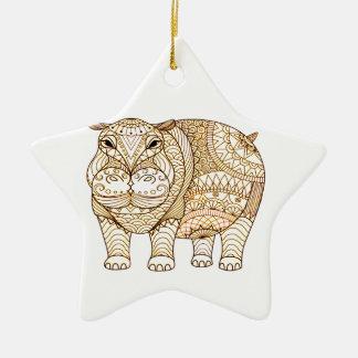 Hippo Ceramic Ornament