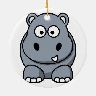 Hippo Christmas Ornament
