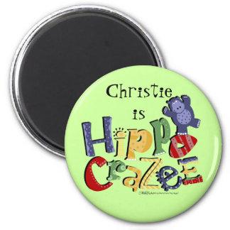 Hippo Crazee (on light colors) Magnet