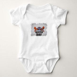 Hippo Day - 15th February - Appreciation Day Baby Bodysuit