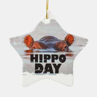 Hippo Day - 15th February - Appreciation Day Ceramic Ornament