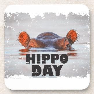 Hippo Day - 15th February - Appreciation Day Coaster