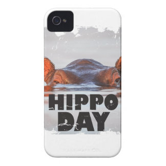 Hippo Day - 15th February - Appreciation Day iPhone 4 Case-Mate Cases