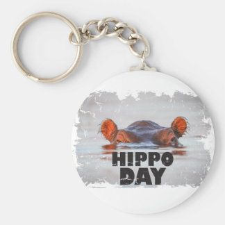 Hippo Day - 15th February - Appreciation Day Keychain