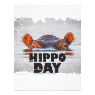 Hippo Day - 15th February - Appreciation Day Letterhead